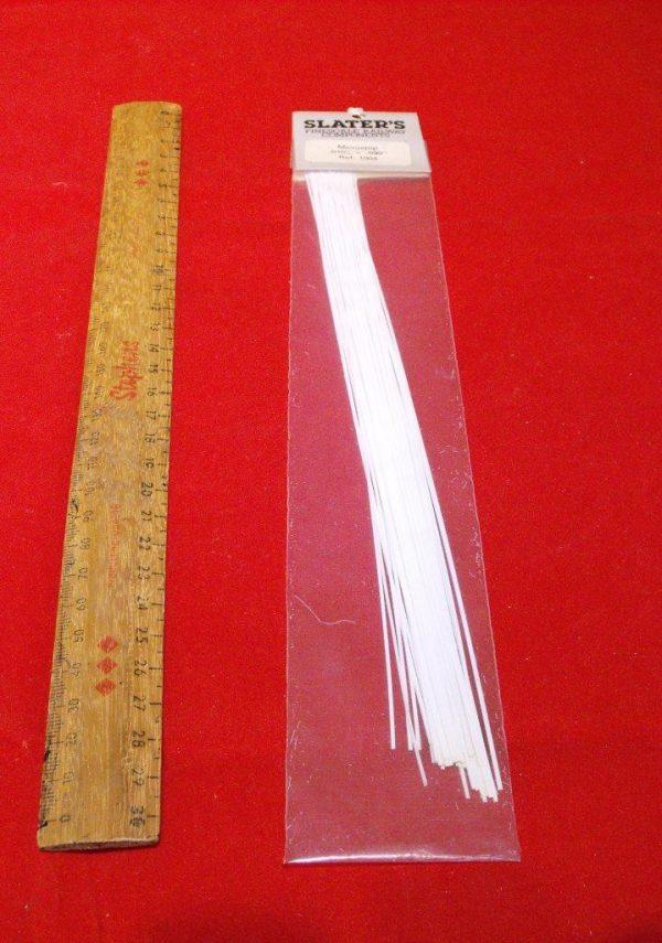 "1004 Slaters Plasticard. 010x.030"" Pack. Size: N -0"