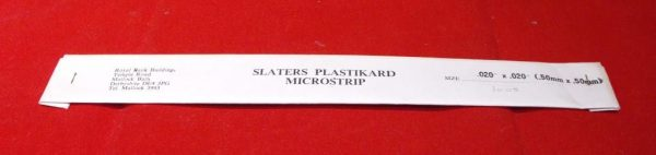 """1005 Slaters Plasticard.020x.020"""" (5mmx5mm) Pack. Size: N -0"""