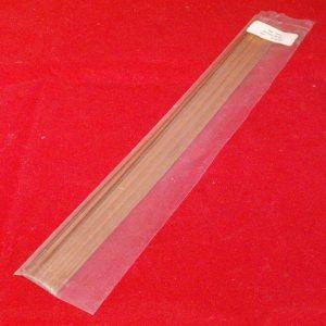 """1410 Slaters brass strips .031"""" - pk 26. Size: N -0"""