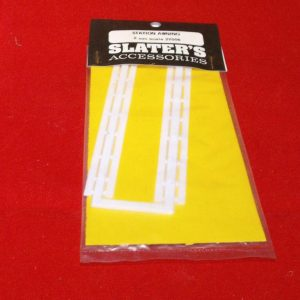 2Y0076 Station awning white. Slaters Plastikard Size: N -0