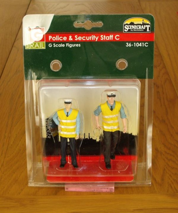 36-1041C Bachmann Police & Security Staff. G scale-0
