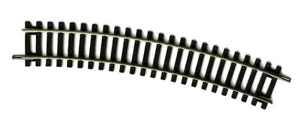R606 Hornby track, Curve 2nd Radius 438mm arc, 22.5 degrees. Size: OO -0