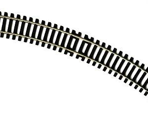 R607 Hornby track, Double Curve 2nd Radius 438mm arc, 45 degrees.Size: OO -0
