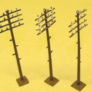 Metal Telegraph Poles qty 3-0