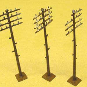 Metal Telegraph Poles qty 3-0