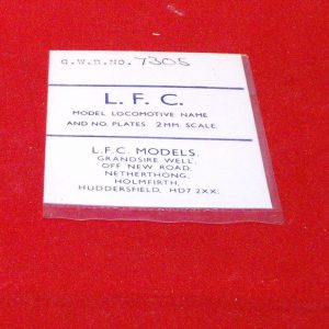 7305 Locomotive Number plate GWR no 7035. LFC Loco Name / No Plate, use tin-snips & file to shape Size: N gauge-0