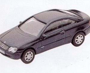 GM301 Mercedes-Benz CLK Coupe black. Diecast Vehicle, Ready Assembled & Painted Size: OO -0