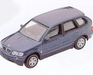 GM303 BMW X5 car, dark blue. Diecast Vehicle, Ready Assembled & Painted Size: OO -0