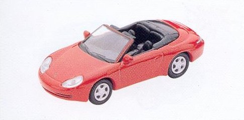 GM306 Porsche 911 Carrera Cabrio car 1997 red. Diecast Vehicle, Ready Assembled & Painted Size: OO -0