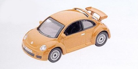 GM312 VW New Beetle RSI, gold/tan. Diecast Vehicle, Ready Assembled & Painted Size: OO -0