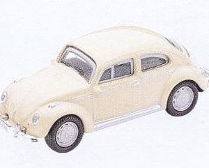 GM314 Old VW Beetle, cream col. Diecast Vehicle, Ready Assembled & Painted Size: OO -0