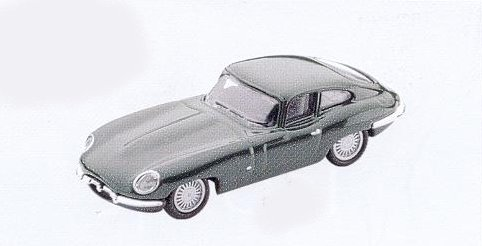 GM315 Jaguar E Type car ,1961 dark green. Diecast Vehicle, Ready Assembled & Painted Size: OO -0