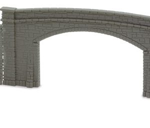 NB-34 Bridge Sides, Double Track 2 sides & wing walls. Peco Lineside Accessories Size: N -0
