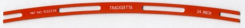 TANT24 Tracksetta 24 inch radius template for laying N gauge track.. Size: N -0