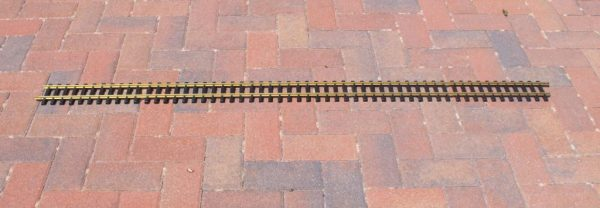 A11099 Aristocraft Straight Track 60inch (5ft) length, brass narrow gauge style. Size: G Gauge-0