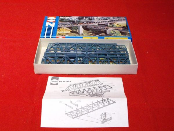 B630 Girder Bridge approx 5 inches 125mm Herpa Plastic Building Kit Size: N gauge-0