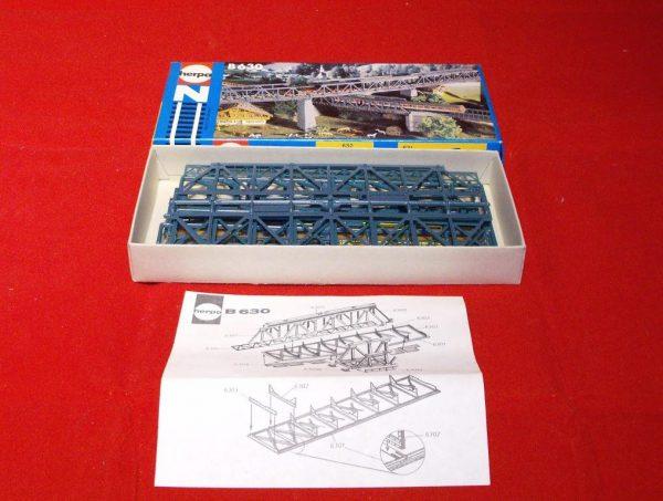B630 Girder Bridge approx 5 inches 125mm Herpa Plastic Building Kit Size: N gauge-0