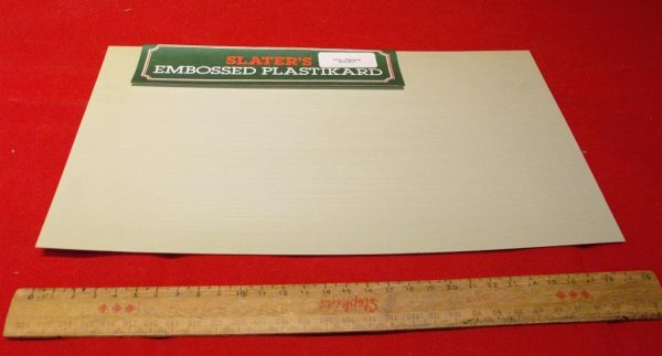BPE/PL1 Slaters plastikard 1mm planking sheet - 1 sheet. Size 30x19cm for : N gauge modelling -0