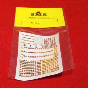 NA1 SMS Waterslide Transfers Numbers LNER Loco Let.. Size: N -0