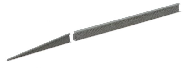 NB27 Platform Edging,Concrete. 5 sections of 145mm long. As NB26 but Concrete. Peco Lineside Accessory Plastic Kit. Size: N -0