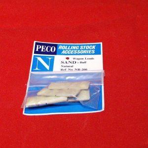 NR-200,Sand. Peco Wagon Loads pkd 4's buff Size: N -0