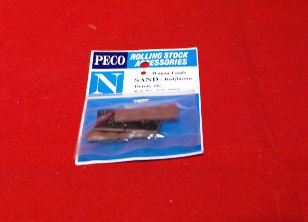 NR-200R Peco Wagon Loads, Sand red & brown, pkd 4 loads Size: N -0