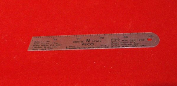 P-NS N Scale Rule Metal approx 4.5inch . Size: For N gauge modelling-0