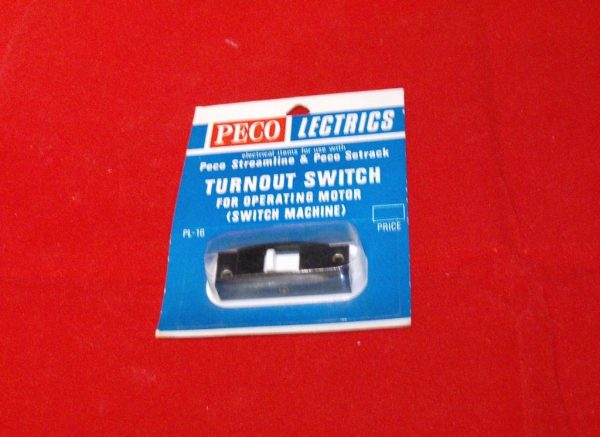 PL-16BK Peco Turnout Switch for operating motor (switch machine) with instructions for Sizes OO & N gauge-0