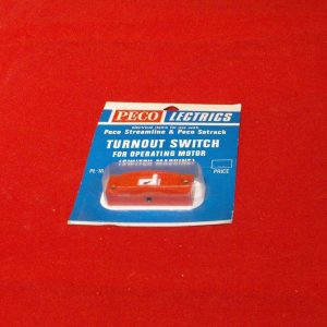 PL-16R Peco Turnout Switch, red, for operating motor (switch machine) with instructions Size: OO & N-0