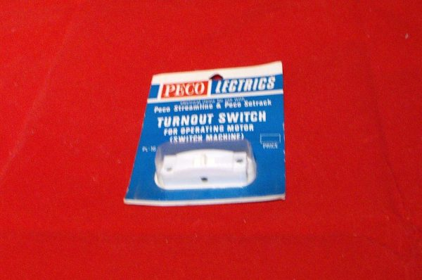 PL-16W Peco Turnout Switch, white, for operating motor (switch machine) with instructions Size: OO & N-0