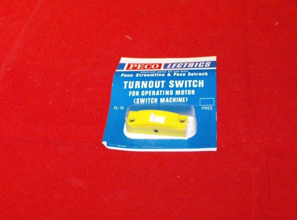 PL-16Y yellow Peco Turnout Switch Size: OO -0