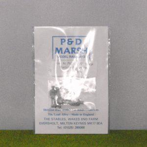 PW111 Station Staff (3). P & D Marsh White Metal Kit, Kit level 1 Size: OO -0