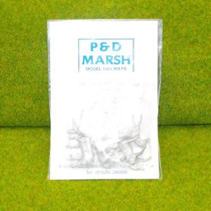 PW112 Horses (5). P & D Marsh White Metal Kit, Kit level 1. Size: OO -0