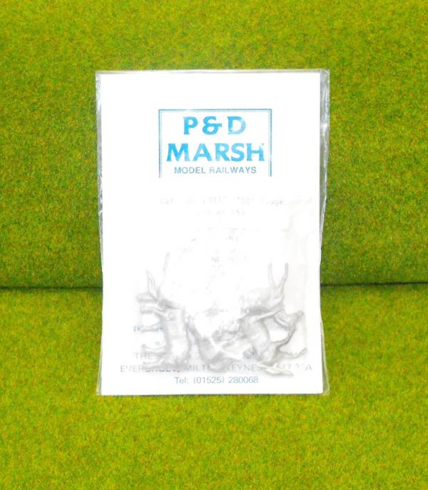 PW112 Horses (5). P & D Marsh White Metal Kit, Kit level 1. Size: OO -0