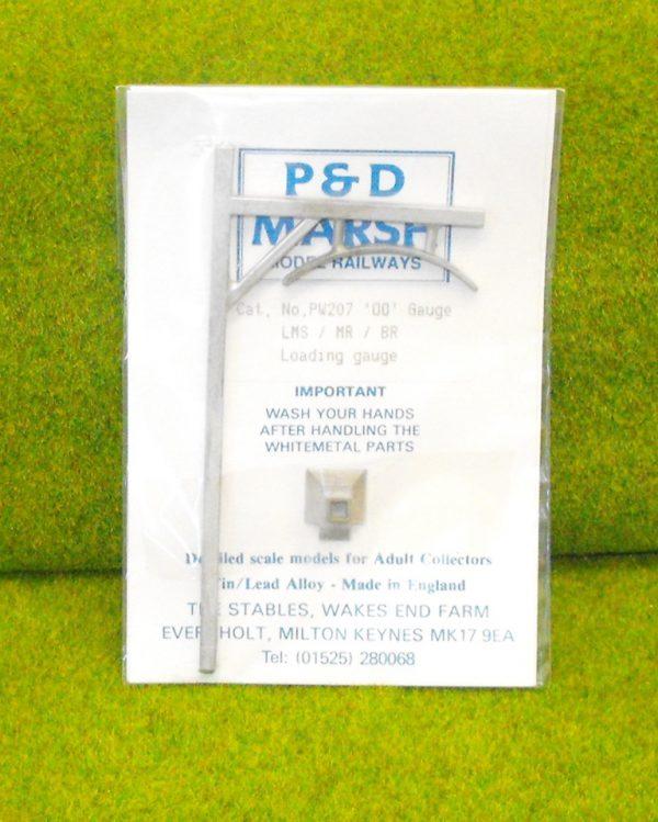 PW207 LMS Loading Gauge. P & D Marsh White Metal Kit, Kit Level 2. Size: OO -0