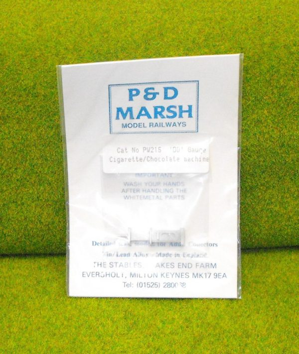 PW215 Cigarette/Chocolate Machine. P & D Marsh White Metal Kit, Kit level 1. Size: OO -0