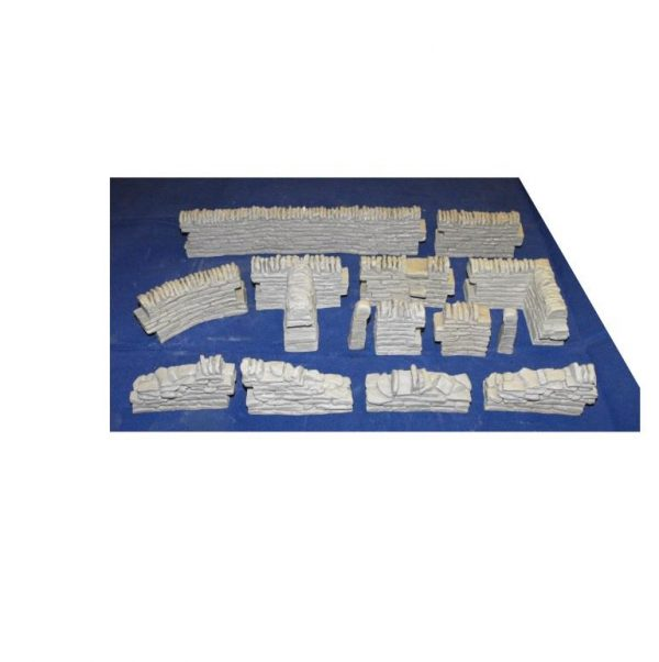 21-001 SHIRECRAFT Overview - General pictures of the Shirecraft ranges of dry-stone Walling, Accessories and Building Sheets, see individual products. Patented range of modeling products.-0