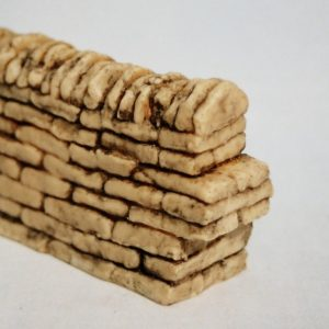 SW10 Shirecraft dry-stone Walling. Straight Walling Section, 305mm (12inches) See picture for 21-001 (SW1) but 305mm (12inches) long. Size: G scale etc.-0