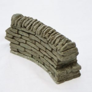 SW2 Shirecraft Curved walling Section. 4 1/2 inches length G scale etc approx. G scale and related scales etc-0
