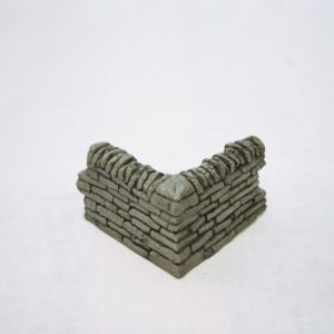 SW3 Shirecraft Walling, Right Angle Corner peice 3.75x 3.5 inches return. G scale etc Patented Product.-0