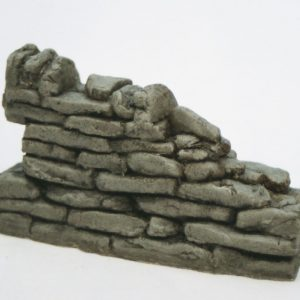 SW6 Shirecraft dry-stone Walling. Broken-down wall, female 3.75 inches length. Size: G scale etc.Patented Product-0