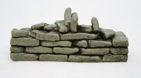 "SW7 Shirecraft dry-stone Walling. ""Broken"" Flat Section (links SW5,SW6), 3.75 inches length. Size: G etc. Patented Product-0"