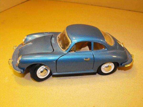"SHSS7721 Die-cast Porsche 356B Coupe ""1961"" model, metallic blue Size: 1:24 
