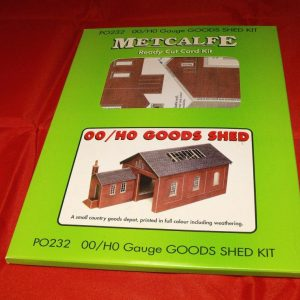 P0232 OO/HO Goods Shed Kit - Metcalfe Premium Ready-Cut Card Kit. Size: OO -0