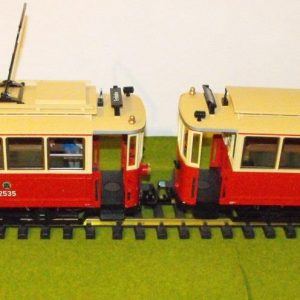 L23360 LGB Street Car, (Tram) & Trailer G Gauge, NEW Boxed-0