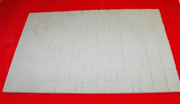 21-56 Shirecraft Flagstones Building Sheet ref 56 flagstone pavement section 350 x 240mm Grey G Gauge-0