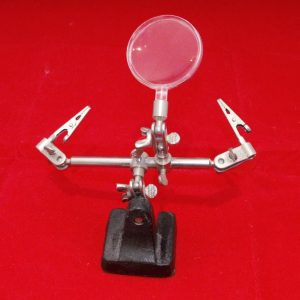 Extra Hands Vice 2 pincers & magnifying glass Used item-0