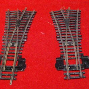 R632 x 2 Hornby track, Point Y. 11.25 degrees. OO Used item-0